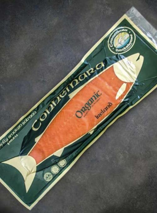 Organic Salmon packaged