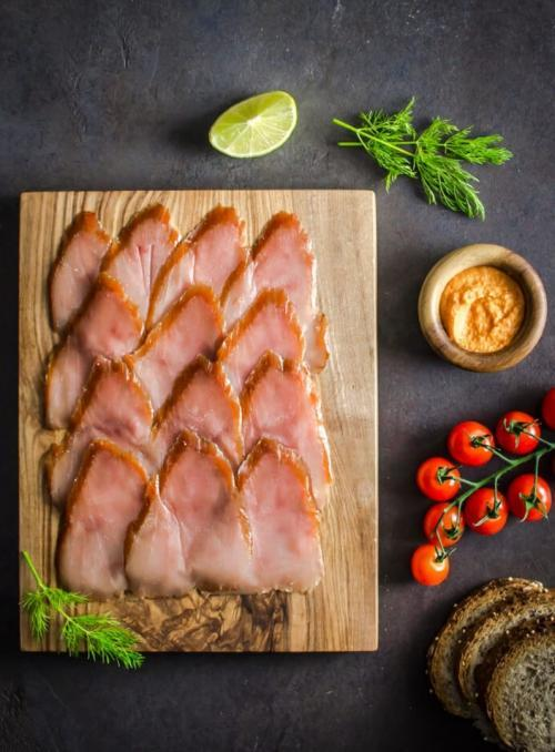Plated Smoked Tuna