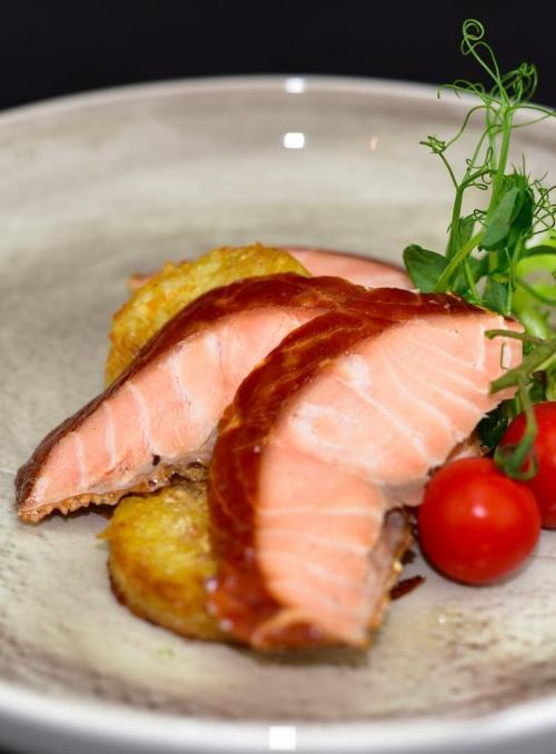 Roast Smoked Salmon Plated