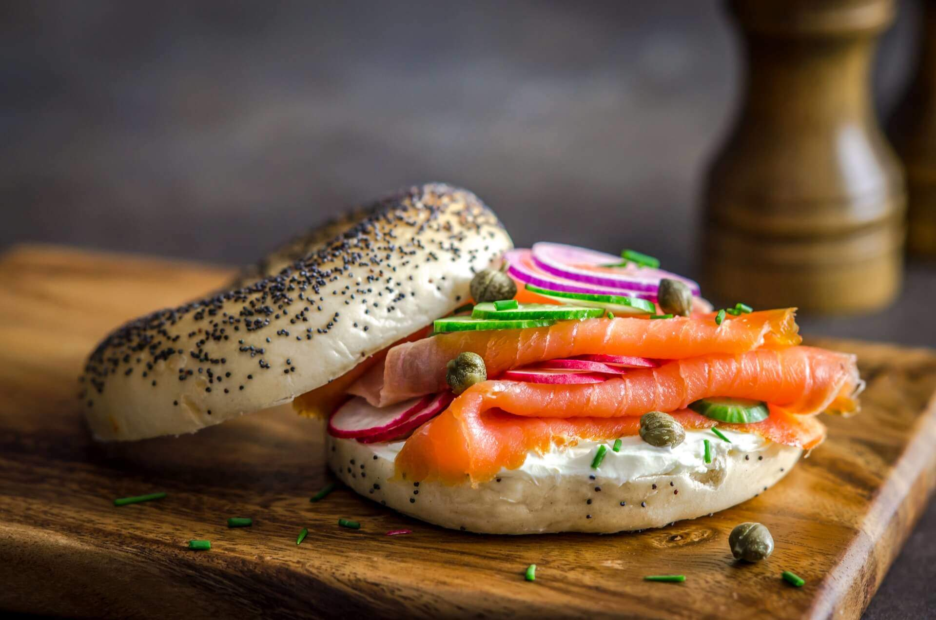 Smoked Salmon Bagel Breakfast