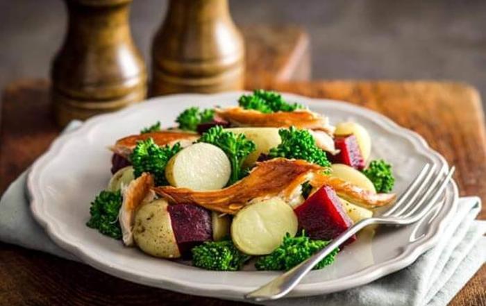 Warm Potato Salad with Smoked Mackerel
