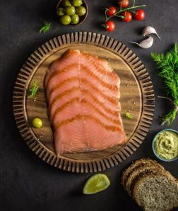 smoked salmon sliced