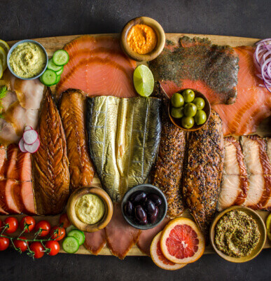 smoked seafood platter