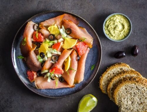 Smoked Tuna with Grapefruit, Orange & Olives